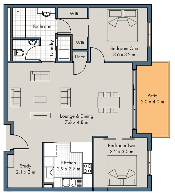 Apartments floor plan - click to expand